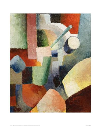 Coloured Composition of Forms-Auguste Macke-Giclee Print