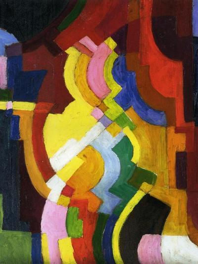 Coloured Forms III, 1913-Auguste Macke-Giclee Print
