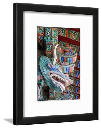 Coloured Wooden Roof in the Bulguksa Temple-Michael-Framed Photographic Print