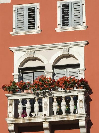 Colourful Balcony, Rovinj, Istria, Croatia, Europe-Stuart Black-Photographic Print