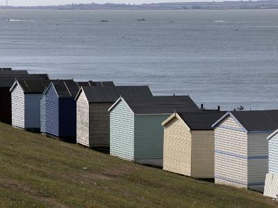 Colourful Beach Huts at the Seaside in Whitstable-Doug McKinlay-Photographic Print