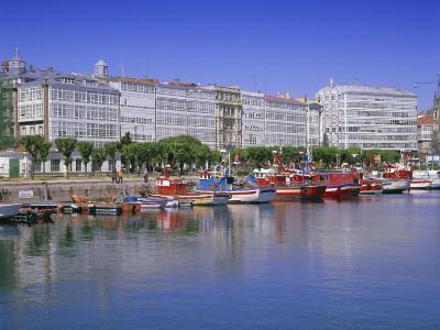 Colourful Boats in Port, La Coruna, Galicia, Spain, Europe-Gavin Hellier-Photographic Print