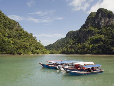 Colourful Boats, Langkawi Island, Kedah State, Malaysia, Southeast Asia, Asia-Christian Kober-Photographic Print