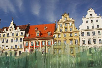 Colourful Buildings and Fountain on Rynek Square; Wroclaw Poland-Design Pics Inc-Photographic Print