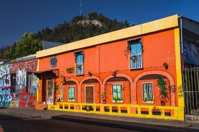 Colourful Buildings in Barrio Bellavista (Bellavista Neighborhood), Santiago Province, Chile-Matthew Williams-Ellis-Photographic Print