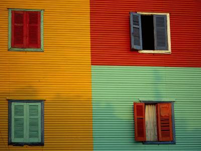 Colourful Buildings in La Boca District, Buenos Aires, Argentina-Louise Murray-Photographic Print