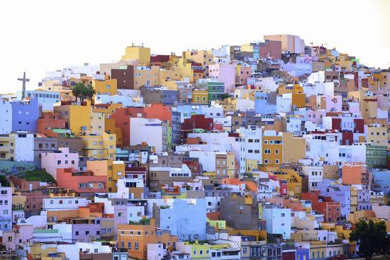 Colourful Buildings in the San Juan District, Las Palmas de Gran Canaria, Gran Canaria, Canary Isla-Neil Farrin-Photographic Print