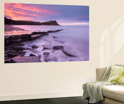 Colourful Dawn Sky Above Kimmeridge Bay on the Jurassic Coast, Dorset, England. Winter-Adam Burton-Wall Mural