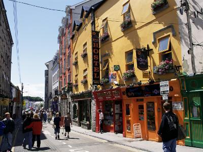 Colourful Facades, Galway, County Galway, Connacht, Eire (Republic of Ireland)-Ken Gillham-Photographic Print