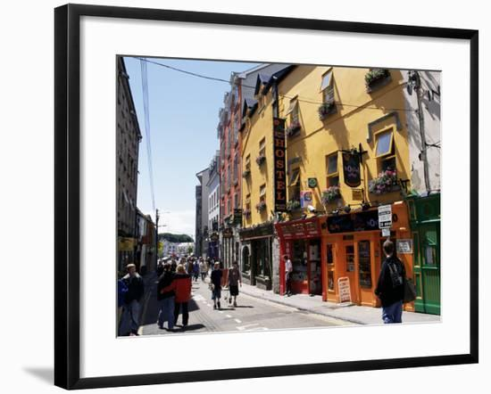 Colourful Facades, Galway, County Galway, Connacht, Eire (Republic of Ireland)-Ken Gillham-Framed Photographic Print