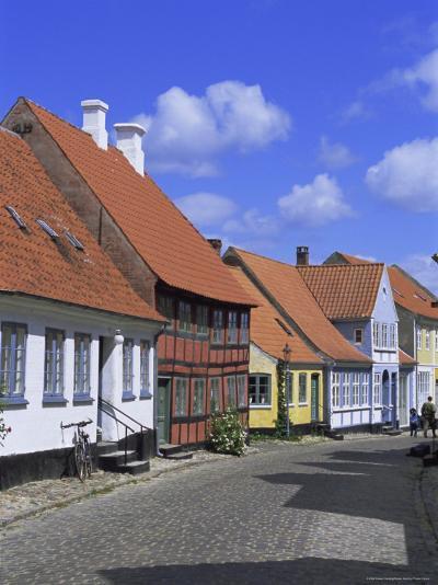 Colourful Houses, Aeroskobing, Island of Aero, Denmark, Scandinavia, Europe-Robert Harding-Photographic Print