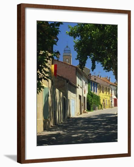Colourful Houses and Church, Puyloubier, Near Aix-En-Provence, Bouches-Du-Rhone, Provence, France-Tomlinson Ruth-Framed Photographic Print