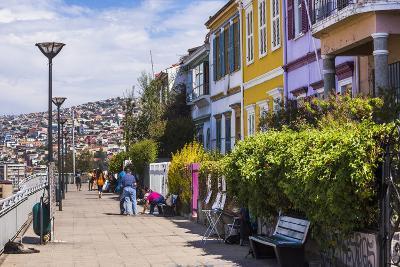 Colourful Houses in Valparaiso, Valparaiso Province, Chile, South America-Matthew Williams-Ellis-Photographic Print