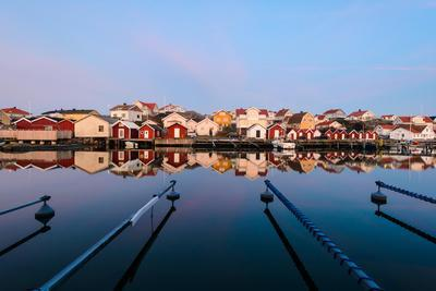 Colourful Houses Reflected in a Still Harbour-Utterstr?m Photography-Photographic Print
