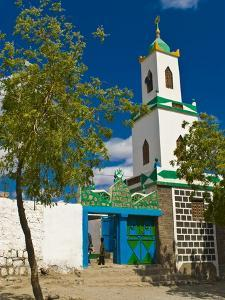 Colourful Mosque in a Little Village in the Republic of Djibouti, Africa