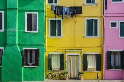 Colourful Painted Houses in Burano, Veneto, Italy-Stefano Politi Markovina-Photographic Print