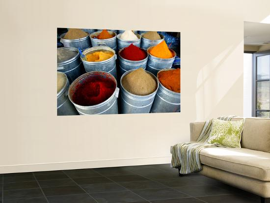 Colourful Piles of Spices on Display in Spice Souk-Doug McKinlay-Wall Mural