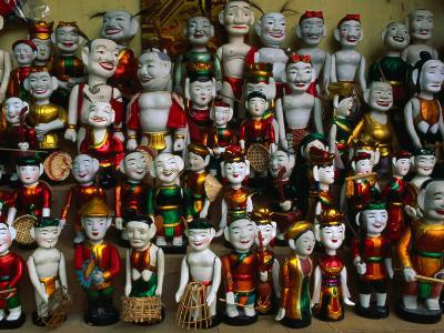Colourful Puppets Used in the Ancient Art of Water Puppetry (Roi Nuoc), Hanoi, Vietnam-Anders Blomqvist-Photographic Print