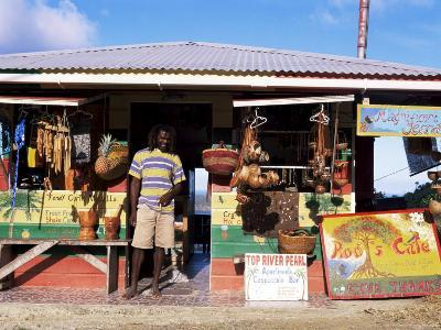 Colourful Souvenir Shop, Speyside, Tobago, West Indies, Caribbean, Central America-Yadid Levy-Photographic Print