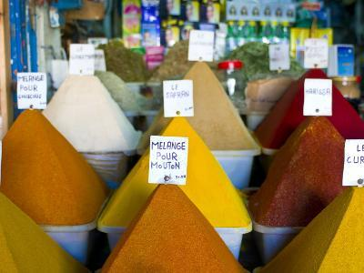 Colourful Spices in the Souk of the Coastal City of Essaouira, Morocco, North Africa, Africa-Michael Runkel-Photographic Print