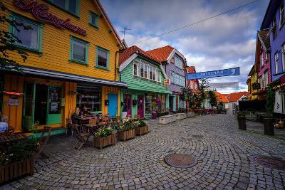 Colourful Street, Ovre Holmegate, Stavanger, Norway, Scandinavia, Europe-Jim Nix-Photographic Print