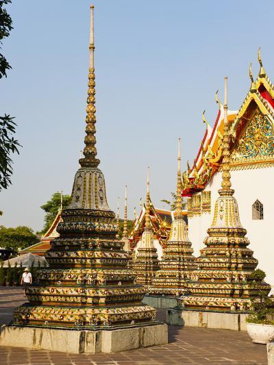 Colourful Stupa at Temple of the Reclining Buddha (Wat Pho), Bangkok, Thailand, Southeast Asia-Matthew Williams-Ellis-Photographic Print