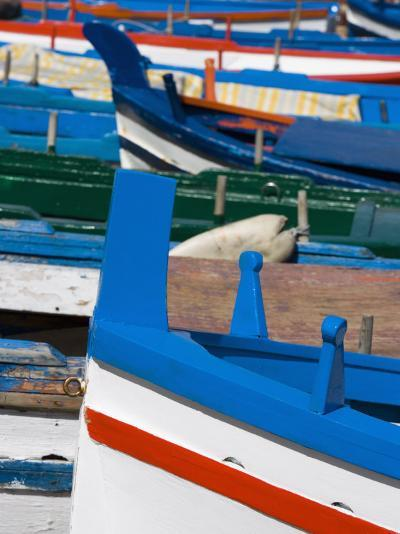 Colourful Traditional Fishing Boats, Aci Trezza, Sicily, Italy, Europe-Martin Child-Photographic Print