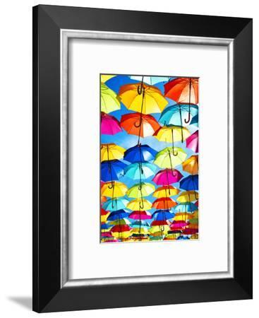 Colourful Umbrellas Collection - Blue Sky-Philippe Hugonnard-Framed Photographic Print