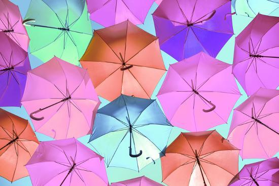 Colourful Umbrellas Collection - Light Pink-Philippe Hugonnard-Photographic Print