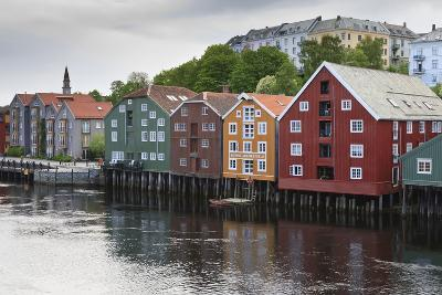 Colourful Wooden Warehouses on Wharf Beside the Nidelva River-Eleanor Scriven-Photographic Print