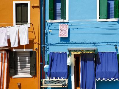 Colourfully Painted Houses Situated on Canal Banks on the Island of Burano, Located Near Venice, Ve-Kimberley Coole-Photographic Print