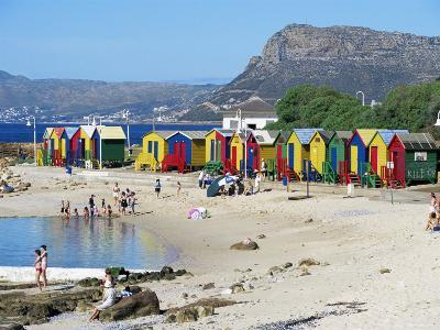Colourfully Painted Victorian Bathing Huts in False Bay, Cape Town, South Africa, Africa-Yadid Levy-Photographic Print