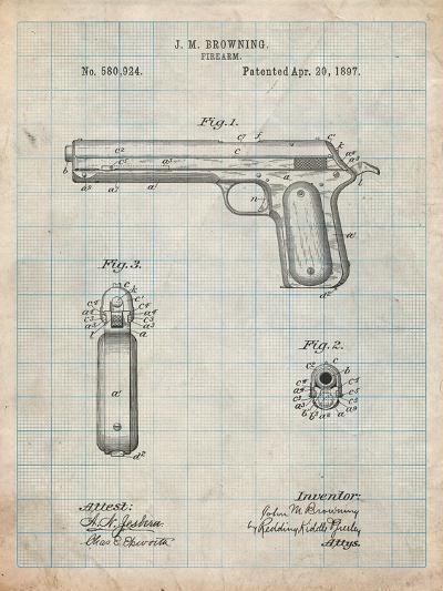 Colt Automatic Pistol of 1900 Patent-Cole Borders-Art Print