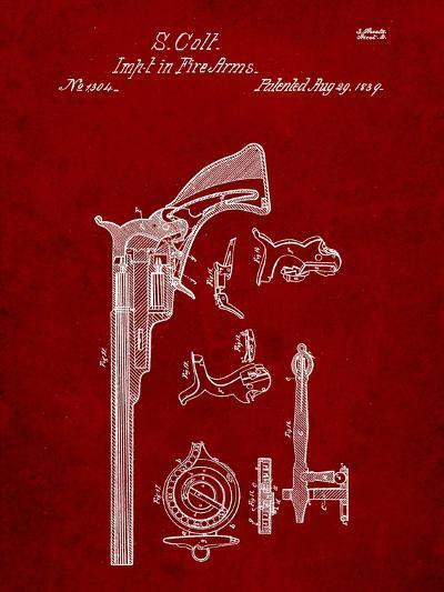 Colt Firearm Patent 1839-Cole Borders-Art Print
