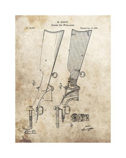 Colt Firearm Stock,1859-Dan Sproul-Giclee Print