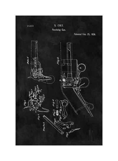 Colt-Revolving Gun, 1836-Black-Dan Sproul-Giclee Print