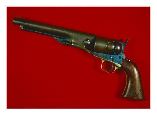 Colt's New Army Model  44 Calibre Six-Shot Percussion Revolver, 1860 Giclee  Print by American School | Art com