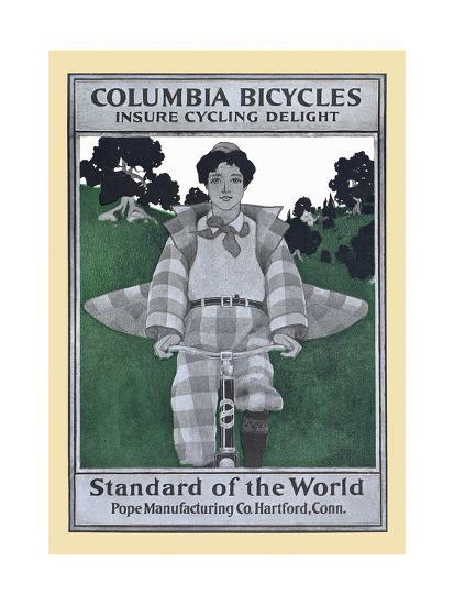 Columbia Bicycles Insure Cycling Delight, Standard Of World, Pope Manufacturing Co. Hartford, Conn.-Maxfield Parrish-Art Print