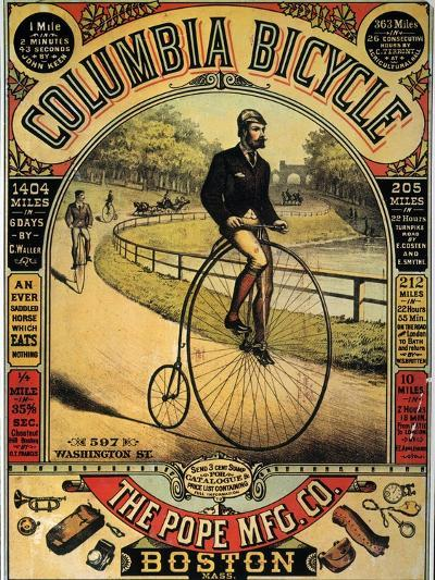 Columbia Bicycles Poster--Giclee Print