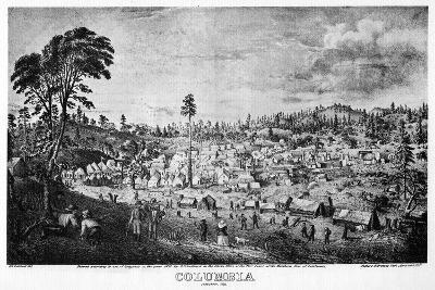 Columbia, California, 1852- Pollard & Britton-Giclee Print