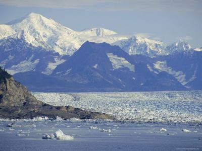 Columbia Glacier, Chugach Mountains, Alaksa, USA-Anthony Waltham-Photographic Print
