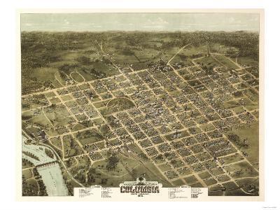 Columbia, South Carolina - Panoramic Map-Lantern Press-Art Print