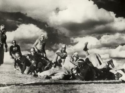 Columbia U Football Game in Progress, c.1940s-George Marks-Photographic Print