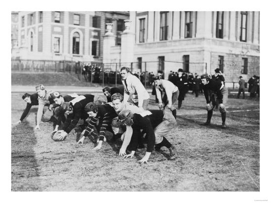 Columbia University Football Players Photograph - New York, NY-Lantern Press-Art Print