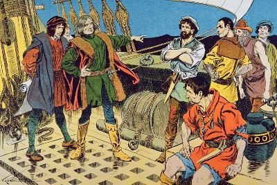 Columbus and His Mutinous Crew--Giclee Print