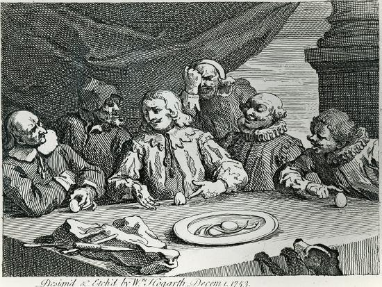 Columbus Breaking the Egg, 1753-William Hogarth-Giclee Print