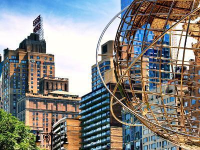 Columbus Circle, Globe Sculpture, 59 Street and Columbus Ave, Essex House Building, New York City-Philippe Hugonnard-Photographic Print