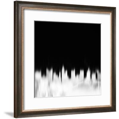 Columbus City Skyline - White-NaxArt-Framed Art Print