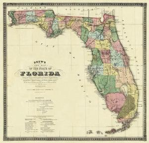 Print Map Of Florida.Beautiful Maps Of Florida Artwork For Sale Posters And Prints Art Com
