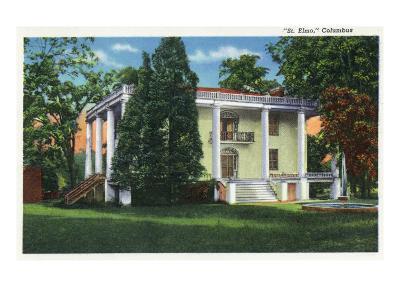 Columbus, Georgia, Exterior View of St. Elmo-Lantern Press-Art Print